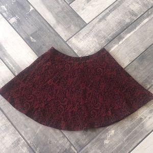 Forever 21 damask print skater skirt size XS